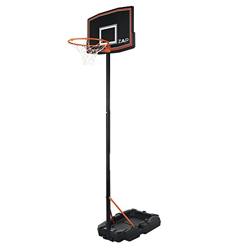 ZAAP Junior Youth Basketball Hoop Outdoor System - Adjustable Height 5.4FT- 7.2FT - Portable with Wheels