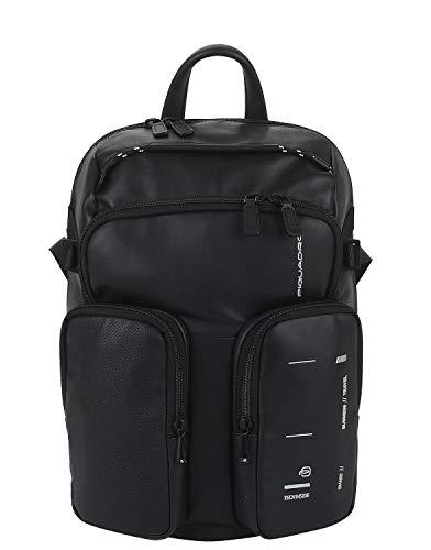 PIQUADRO Mochila porta PC con bolsillos exteriores color negro CA4922S106