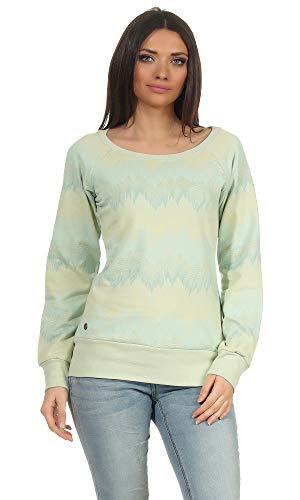 mazine - Damen - Sweater 'Irma' - Mint/Allover - 2XL