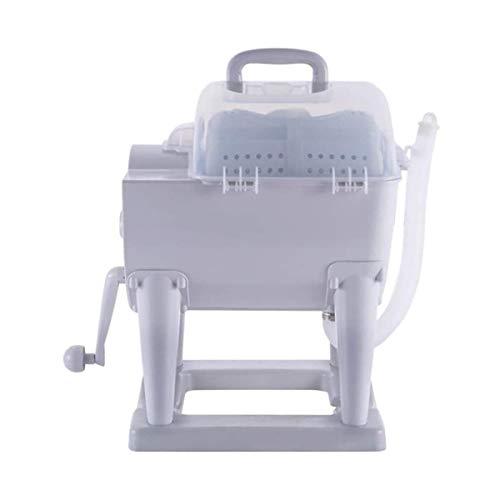 WYJW Lavadora Manual portátil no eléctrica Combo de Lavadora de manivela y Secadora giratoria Diseño Compacto para apartamento, Hotel, Dormitorio, Camping