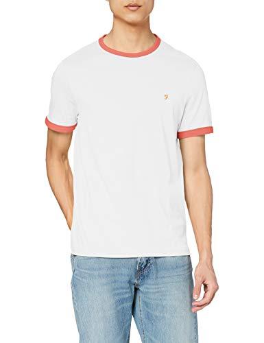 Farah Groves T-Shirt, Palissade Rose, L Homme
