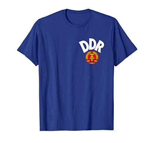 DDR Fussball Trikot 1974 Design Wappen Ostalgie Geschenk DDR T-Shirt