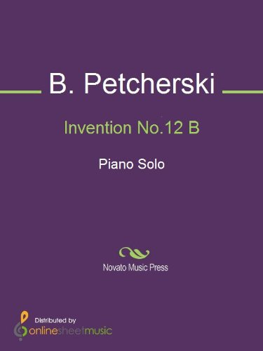 Invention No.12 B - Piano (English Edition)
