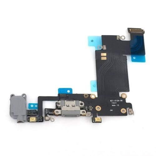 XcellentFixParts Connettore di Ricarica Dock Charging di Ricambio per iPhone 6S Plus Grigio - Flex con Parti Elettriche per Microfono, Antenna, Audiojack, Tasto Home