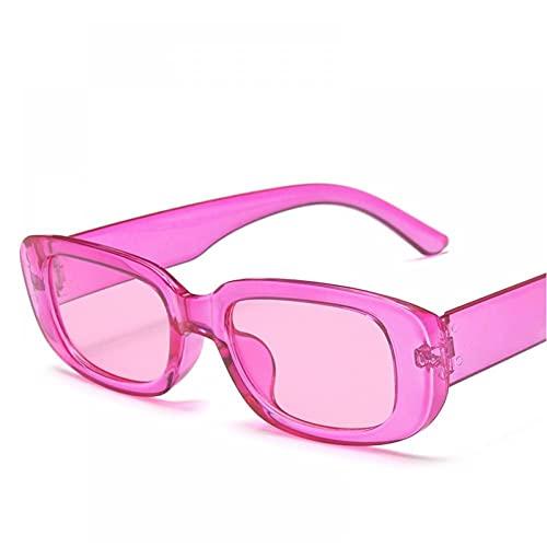 CGQDDP Gafas de Sol Retro cuadradas clásicas. Gafas de Sol rectangulares pequeñas para Mujer