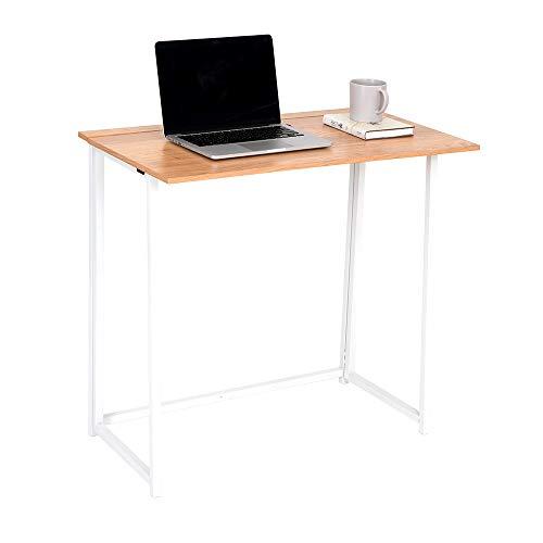 Wonderhome Mesa de Escritorio Plegable para computadora Pequeño Escritorio de Estudio Plegable para el hogar y la Oficina ⭐
