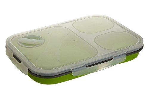 Premier Housewares sans tête Baignoire Pliable Lunch Box, Polypropylène, Polypropylène Silicone, Green, n/a
