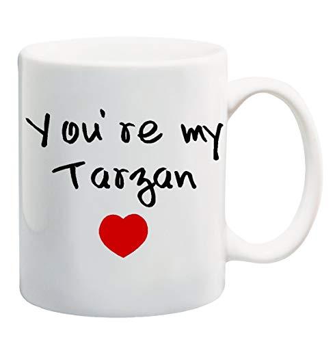 N\\A SIE \'RE My Tarzan Kaffee Teebecher Tasse - 11 Unzen