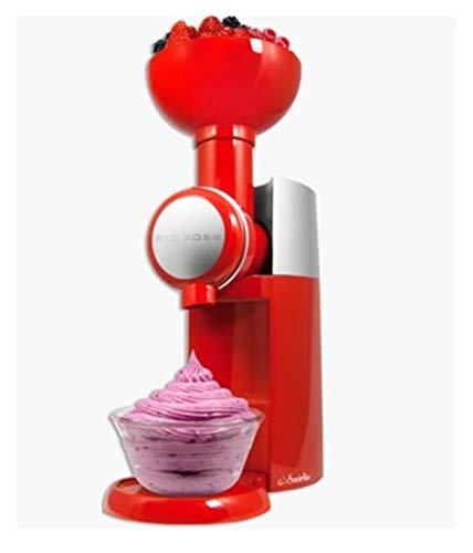HOLPPO Máquina de frutas congeladas, máquina de sorvete totalmente automática, máquina de sorvete doméstica, 1 peça HOLPPO (cor: vermelho)