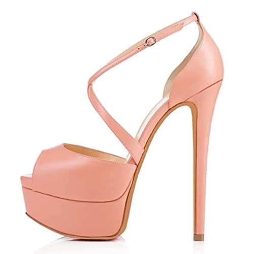 TER Mujeres Bombas Discoteca Sandalia Ultra Moda Novia Zapatos 14cm Super Pump...