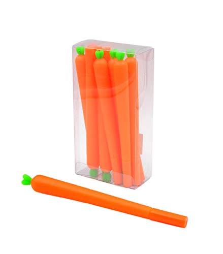 Bolígrafos zanahoria 12 unidades lote Decorativos Recuerdos Regalos Papelería.Detalles de Bodas, Comuniones, Bautizos, Cumpleaños.