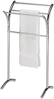 Chrome Finish Towel Rack Bathroom Stand Shelf