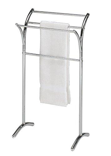 eHomeProducts Chrome Finish Towel Rack Bathroom Stand Shelf