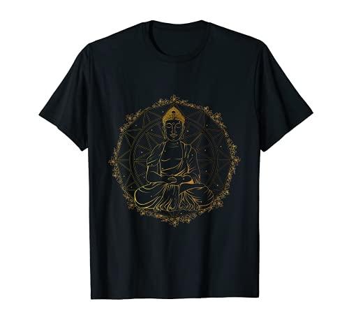 Buddha Statue Buddhist Buddhism Zen Yoga Meditation Guatama T-Shirt