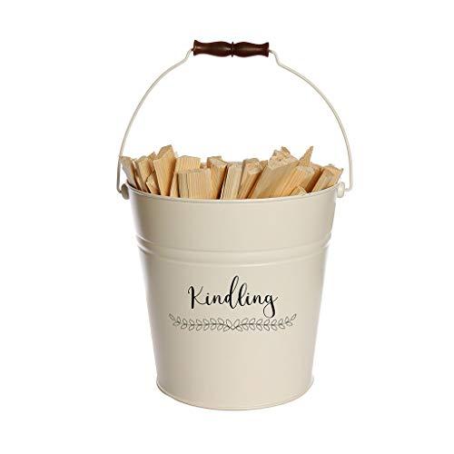 Witte Kindling emmer - 17L brandhout opslag