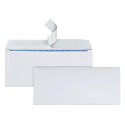 Office Depot Clean Seal(TM) Security Envelopes, 10 (4 1/8in. x 9 1/2in.), White, Box of 500, 12015