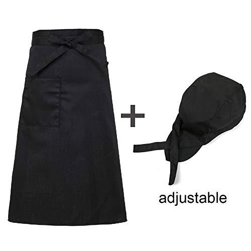 FHFF kookmuts unisex restaurant uniform hotel korte mouwen keuken werkkleding heren professionele kleding in één maat hoed schort
