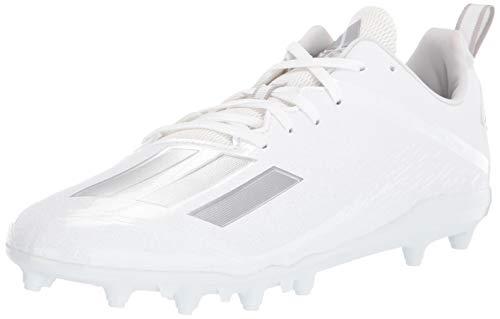 adidas Men's FBG57 Football Shoe, White/Silver Metallic/White, 10.5