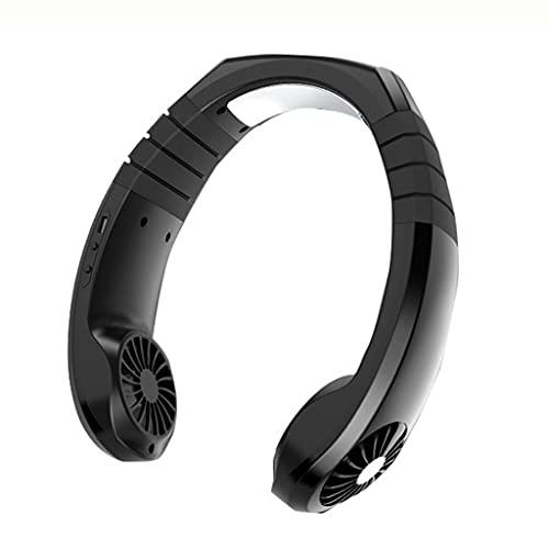 XZJJZ Manos Libres Cuello Ventilador, Mini portátil USB portátil 360 ° refrigeración Perezoso Cuello Colgante refrigerador Viaje Deporte Ventilador Aire Acondicionado