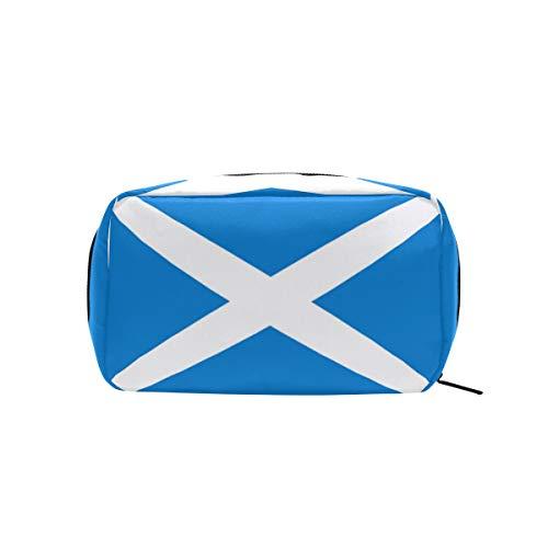 FAJRO Trousse de maquillage Motif drapeau de l'Écosse