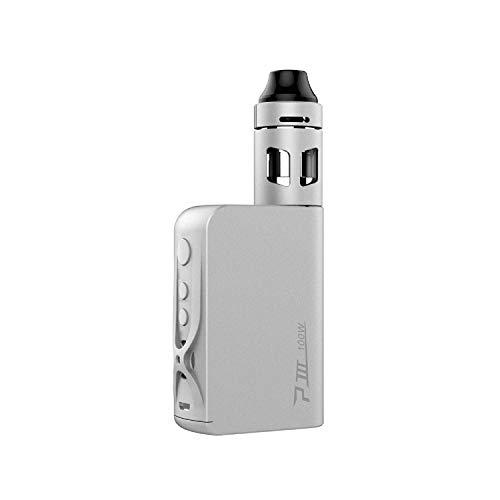 Vaptio P3 E-Cigarette Starter Kit, Electronic Cigarette 100 W Shisha Vaporizer Vape with 3000 mAh Electronic Sigara Box Mod E-Cigarettes and Smoke Vaper No Nicotine (rot) (weiß)