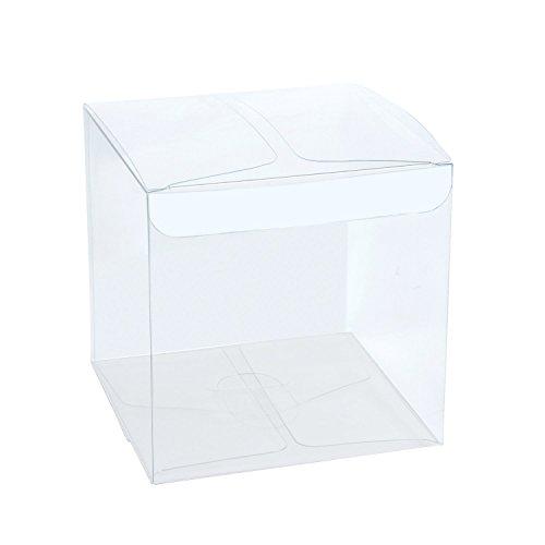 RUSPEPA 30Pcs PET Transparente Boxen/Clear Geschenkboxen für Hochzeit, Party und Baby Dusche Gefälligkeiten, 10 x 10 x 10 cm