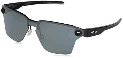 OO4139 Lugplate Square Metal Sunglasses , Satin Black/Prizm Black, 39 mm