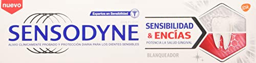 Sensodyne Sensibilidad & Encías - Blanqueador, pasta de dientes con flúor, 75 ml