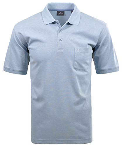 Ragman Herren Kurzarm Softknit Poloshirt, Rauchblau, XL XL Rauchblau