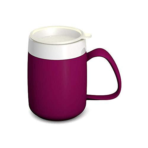 Ornamin Becher mit Trink-Trick 140 ml brombeer mit Thermofunktion und Trinkdeckel (Modell 207 + 814) / Spezial-Trinkhilfe, Nasenbecher, Schnabelbecher