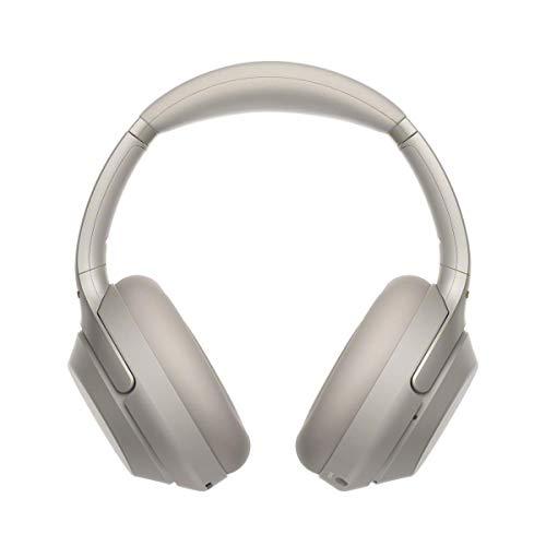 Sony Wh-1000xM3 - Cuffie wireless con cancellazione del rumore con 30 ore di durata della batteria, ricarica rapida, controllo dei gesti, colore: Argento + supporto per cuffie