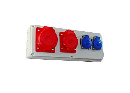 Baustromverteiler/Wandverteiler 2 x 230V/16A & 1 x CEE 16A & 1 x CEE 32A verdrahtet