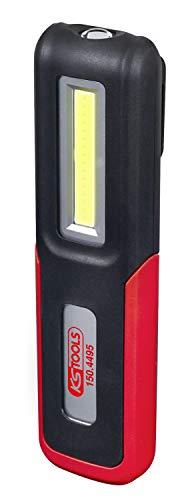 KS Tools 150.4495 Lampe de Poche LED COB 3W sur Support orientable, Noir/Rouge, 3 Watt