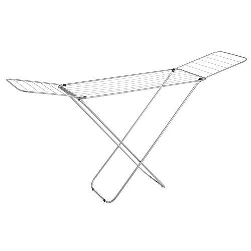 Tendedero Plegable con alas Gris de Metal de 182x95x47 cm - LOLAhome