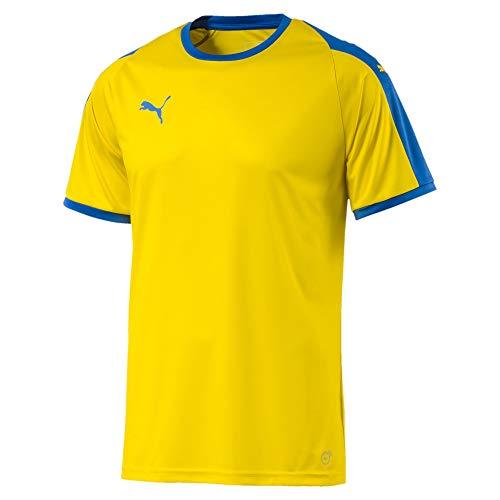 Puma Liga, Maglietta Uomo, Giallo (Cyber Yellow/Elec Blue), L