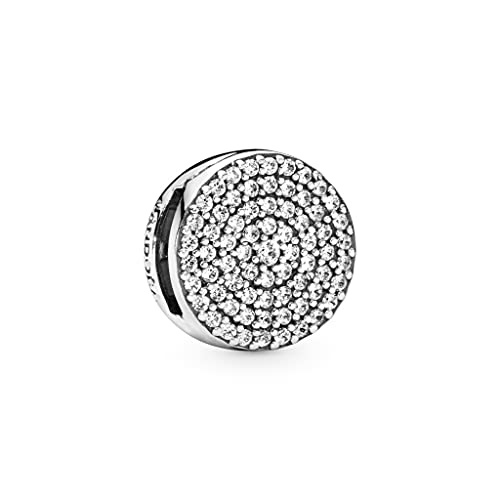 Pandora 925 plata esterlina joyería colgante Charms Pavé encanto Clip Fit pulsera joyería