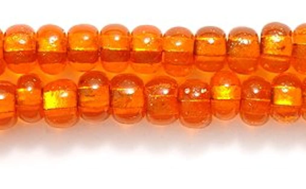 Preciosa Ornela Czech Seed Bead, Copper Lined Light Orange, Size 6/0