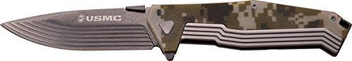 United States Marine Corp USMC Adultes Manuel Folding Knife Couteau d'extérieur, Multicolore, Taille Unique