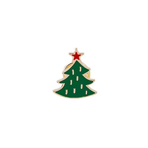 BBLLBrosche Nette Weihnachtsbaum Stiefel Weihnachtsmann Jingle Bell Brosche Cartoon Emaille Pins Für Frauen Winter Revers Abzeichen Schmuck GeschenkWeihnachtsbaum 2