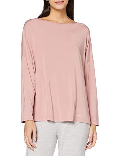 Calvin Klein Liquid Touch Camiseta de Manga Larga, Rosa (Alluring Blush ABH), S para Mujer