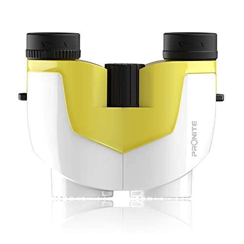 Prismáticos compactos para niños y adultos - Mini prismáticos de 10 x 25, pequeño binocular para observación de aves, viajes, campamento..