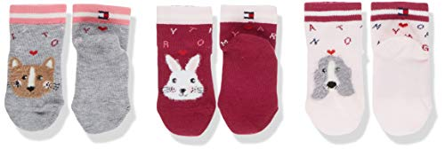 Tommy Hilfiger Unisex Baby TH 3P GIFTBOX Socken, Mehrfarbig (Pink Combo 174), 15-18 (3er Pack)