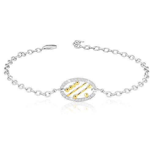 Morse code Link Bracelet I Love You in 925 Sterling Silver Hope Symbol Charm Adjustable Bracelet Anklet Adjustable Cubic Zirconia Link Jewelry Gift for Women Men Coupled Daughter