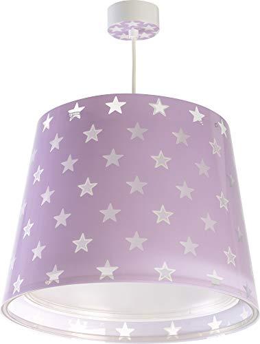 Dalber - Lampada da soffitto per bambini, con stelle, colore: viola, 60 W