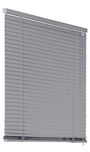 Deco4Me Alu Jalousie Aluminiumjalousie 110x130cm Silber Rollo Schalusie Jalousette Tür Fensterjalousie Sonnenschutz Sichtschutz