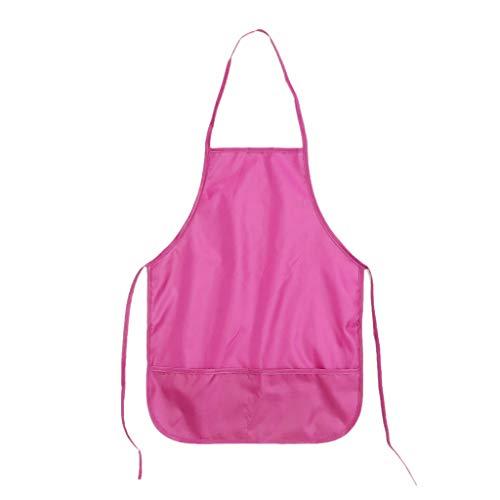 Jiay Schürze für Kinder, wasserdicht, zum Malen von Kochköpfen Pink