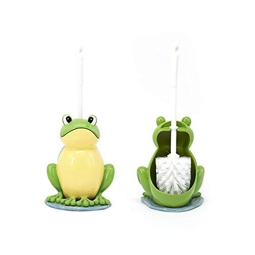WW Bathroom set La résine écologique de Dessin animé de Brosse de Toilette a froncé la Grenouille et la Brosse de Toilette Ensemble de Nettoyage de To