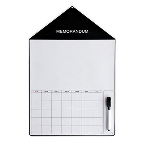 UPKOCH Patrón de La Casa Calendario de Borrado en Seco Magnético Pizarra...