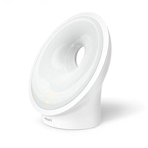 Philips HF3651/01 Sleep und Wake-up Light (Einschlafhilfe, Natürlich aufwachen, Sonnenauf- und untergangssimulation, Nachtlicht, Entspannungsübung)