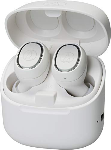 Audio-Technica ATH-CK3TWWH Wireless in-Ear Headphones, White,...
